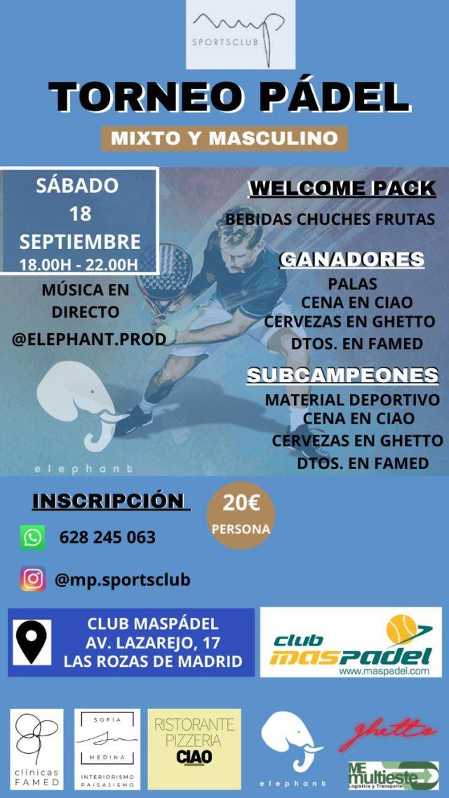 Mpsportsclub continúa con los torneos de Pádel en Las Rozas de Madrid