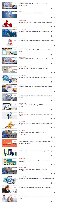 Consulta la agenda de webinars de Las Rozas Next