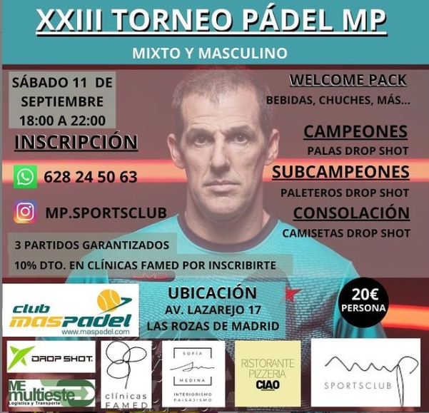 XXIII Torneo Padel MP - 11 de septiembre 2021